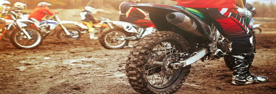 un pneu de motocross
